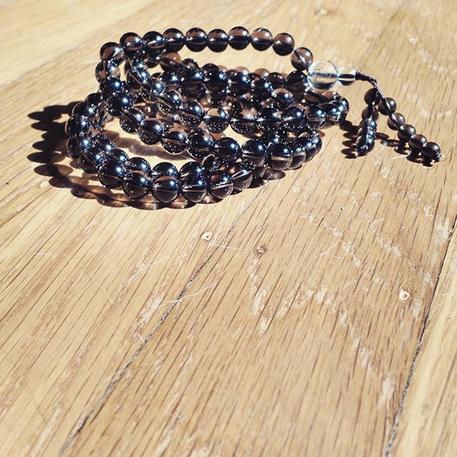 Feeling grounded. #newmalabeads #smokeyquartz