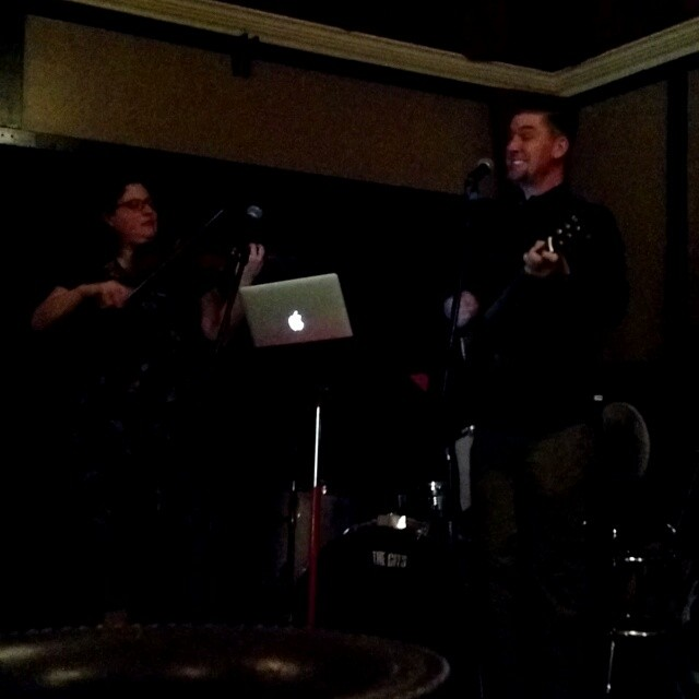 The icing on the cake of Ted's 40th Birthday Week extravaganza - a set as the featured artist at The Fireside Lounge. Joined here by the lovely Michelle Levy.  #proudwifey