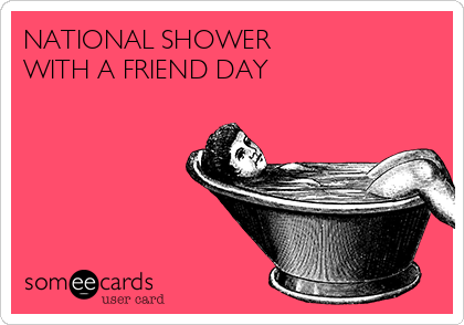 Happy National Shower With a Friend Day | leahdecesare.com