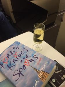 Forks, Knives, and Spoons on plane to Switzerland | leahdecesare.com