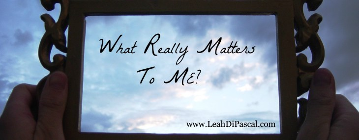 What Really Matters to Me? (Unglued Book Giveaway)