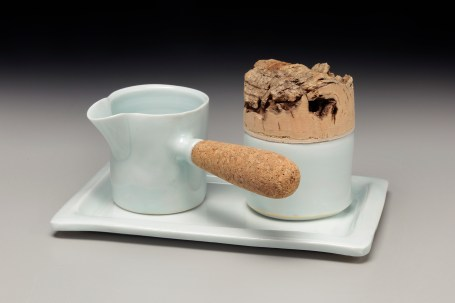 cork:porcelain -creamer -sugar set