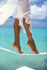 Photo Woman Tightrope Balance