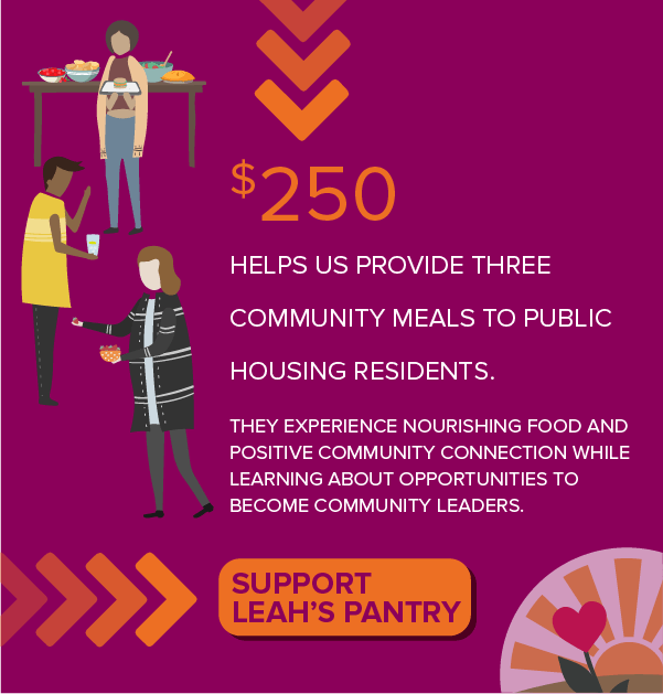 Support Leah's Pantry with a $250 donation