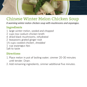 Chinese Winter Melon Chicken Soup