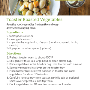 Toaster Roasted Vegetables