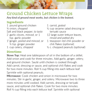 Ground Chicken Lettuce Wrap Recipe Card