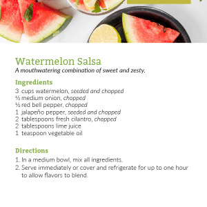 Watermelon Salsa Recipe Card