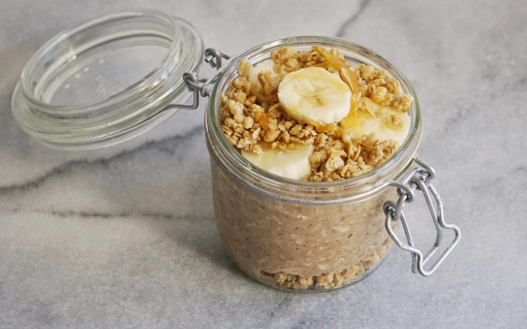 Peanut Butter & Banana Crunch Overnight Oat Parfait