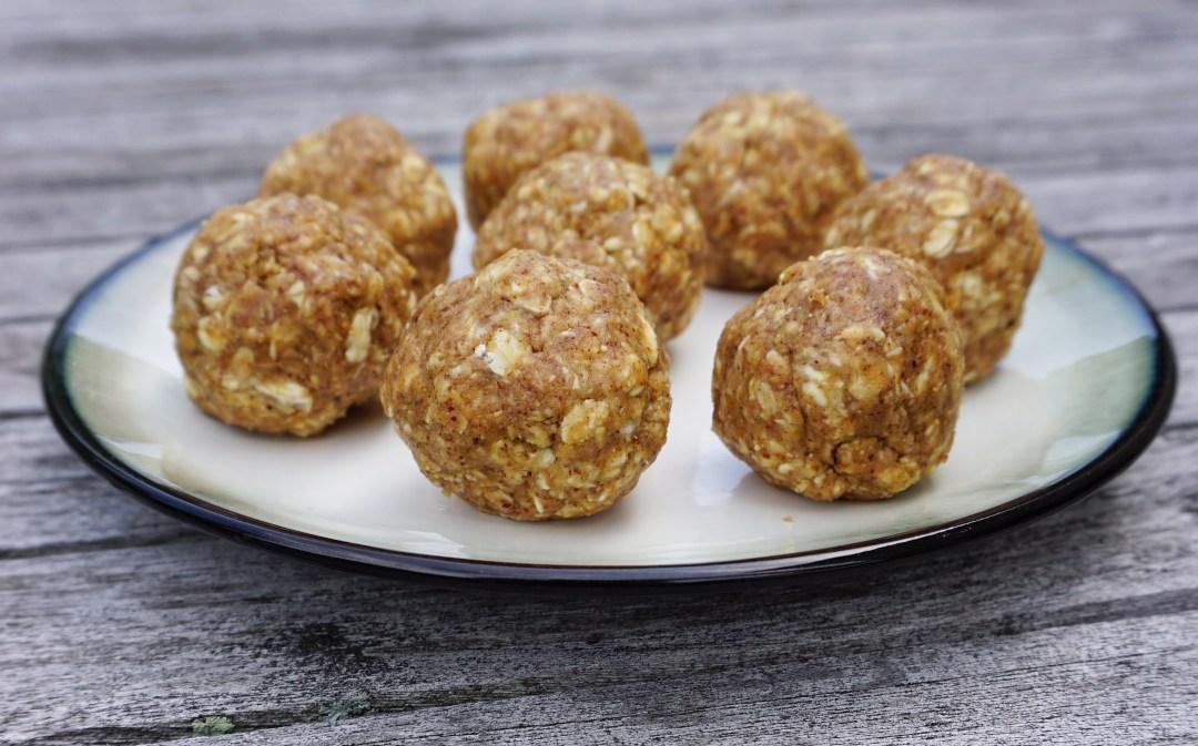 No Bake Almond Butter Oat Energy Balls Leahs Plate3 - No Bake Almond Butter Oat Energy Balls