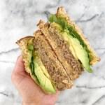 Pumpkin Hummus3 - California Veggie Burger with Sweet & Savory Pumpkin Hummus
