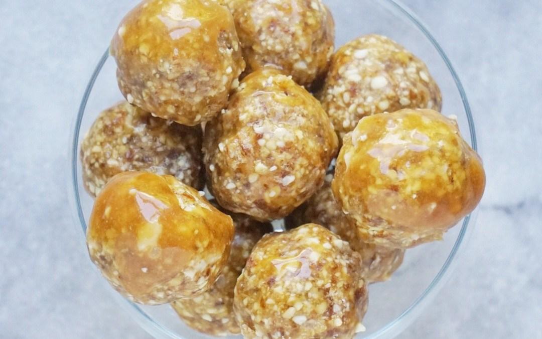 Raw Salted Caramel Donut Holes (Vegan + Gluten-Free)