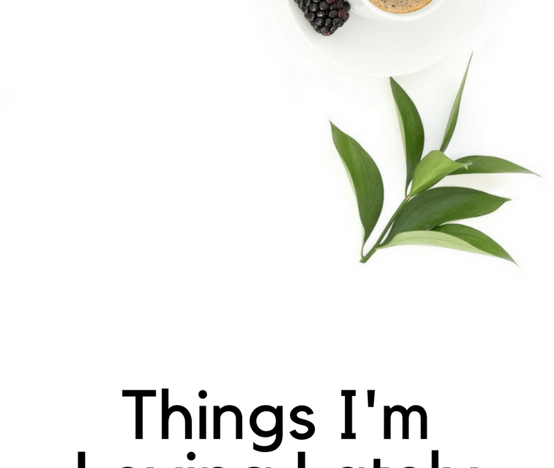Things I'm Loving Lately – December Edition