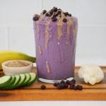 Blueberry Flax Smoothie5 - Blueberry-Flax Smoothie (Vegan & GF)