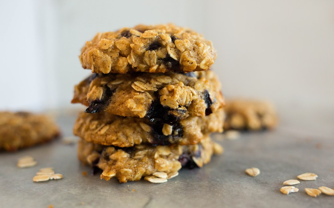 Blueberry Honey Oat Breakfast Cookies (Gluten-Free)