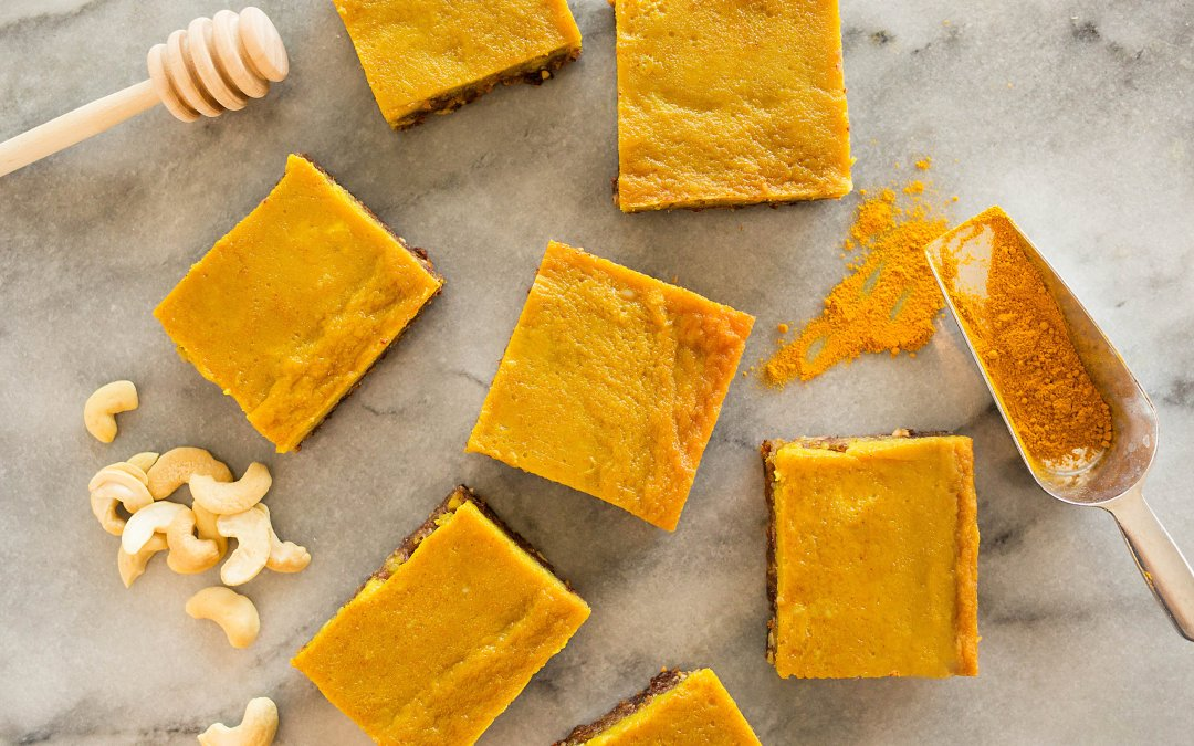 Turmeric Honey Bars (free of dairy, grains, gluten and refined sugar)!
