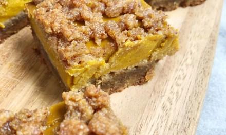 Pumpkin Pie Crumble Bars (Paleo)