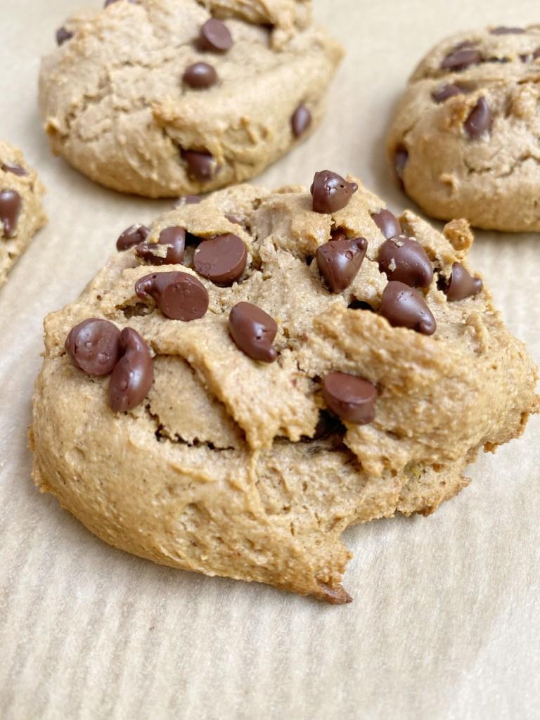 vegan gf choc chip cookie3 768x1024 - Vegan + Gluten-Free Chocolate Chip Cookies