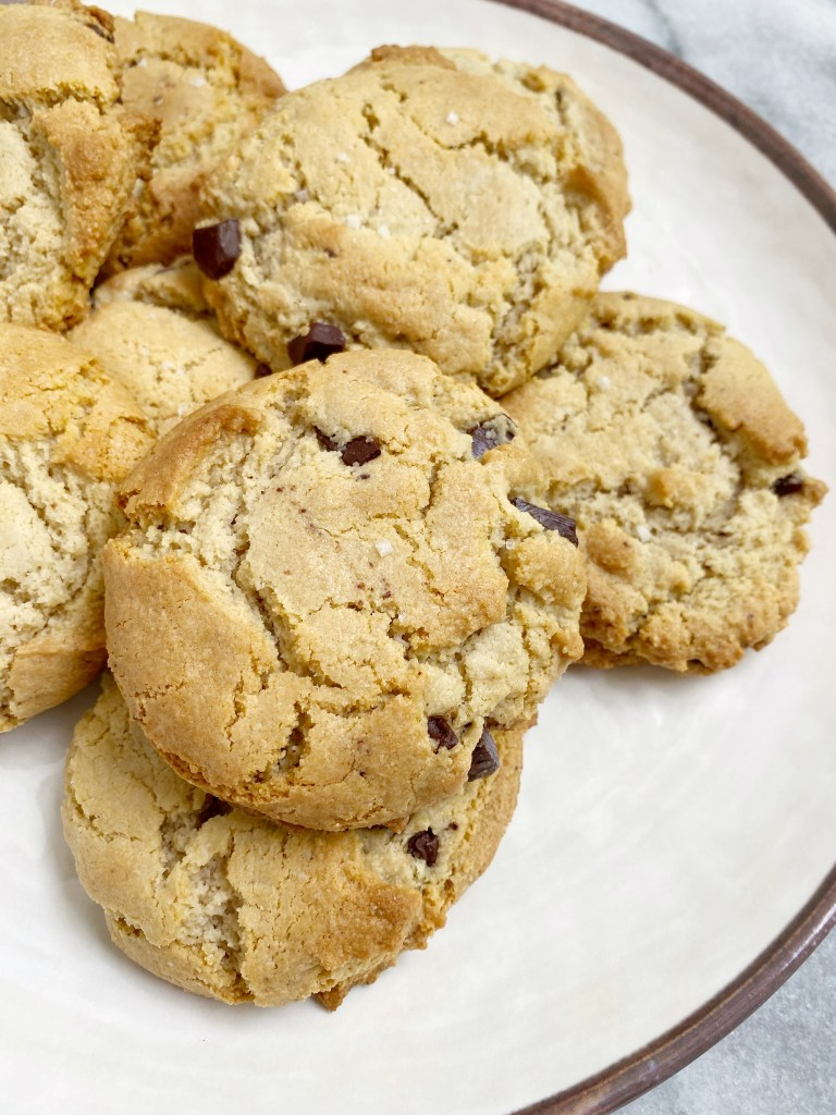Maple Sea Salt Chocolate Chip Cookies3 768x1024 - The Most AMAZING Vegan Maple Sea Salt Chocolate Chip Cookies!!