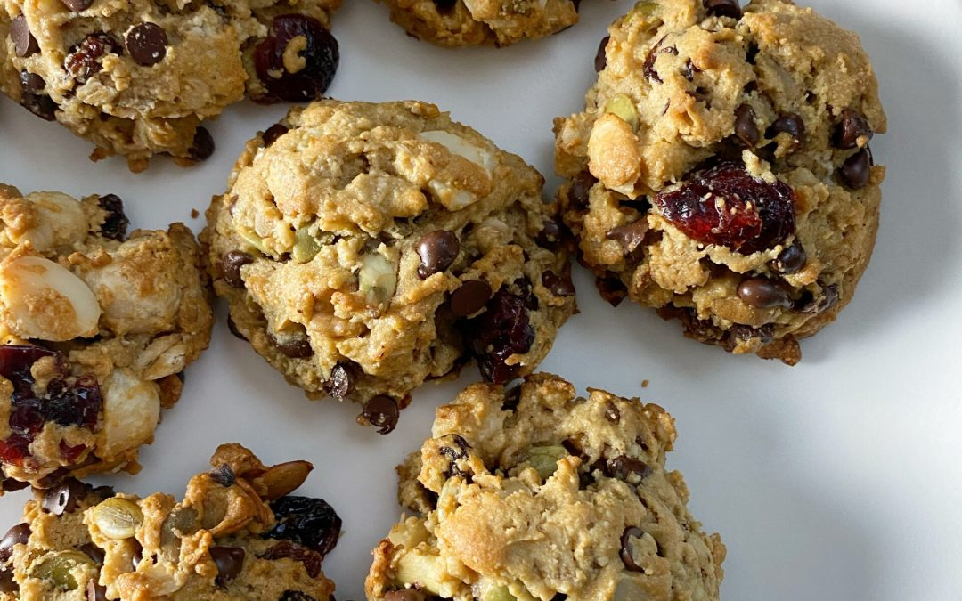 Gluten-Free Trail Mix Breakfast Cookies!!