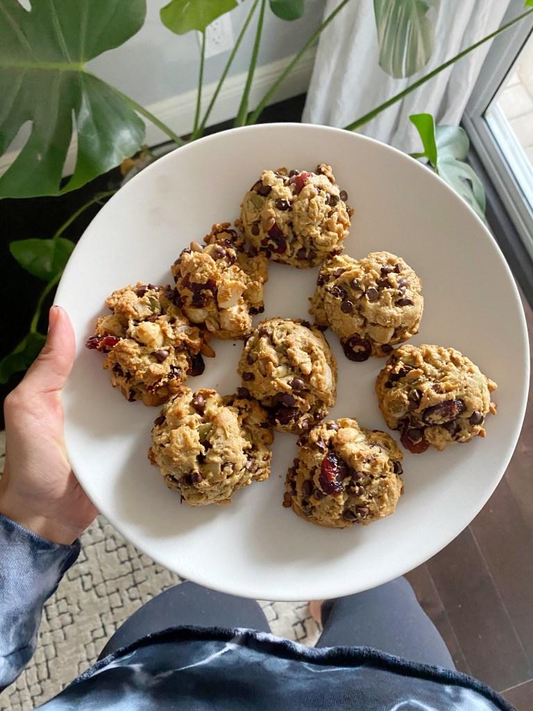 trail mix cookies5 768x1024 - Gluten-Free Trail Mix Breakfast Cookies!!