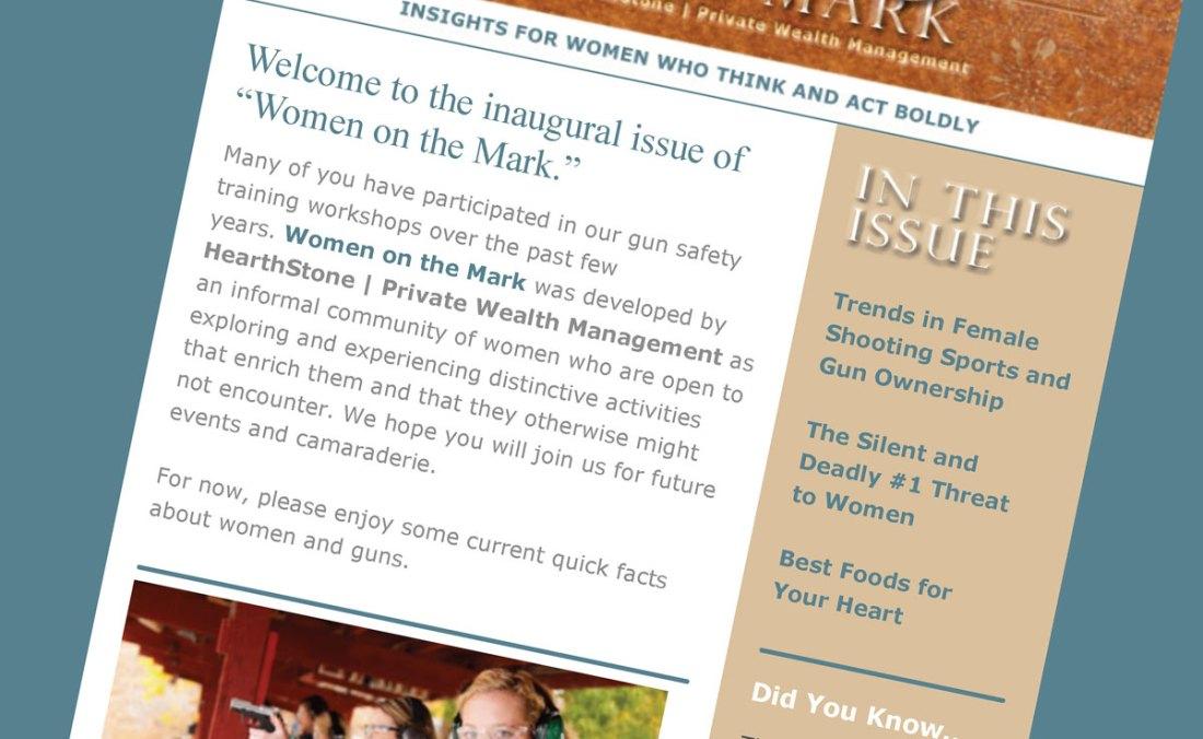 Women On The Mark web newsletter