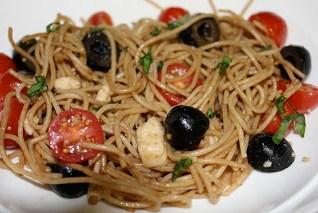 Tomato Mozzarella Pasta & What's Cooking