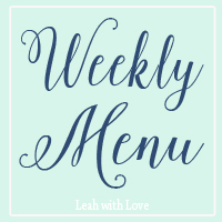 {What's Cooking} Weekly Meal Plan #1