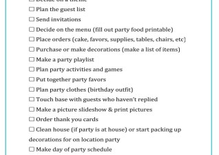 {Free} Party Planning Printables