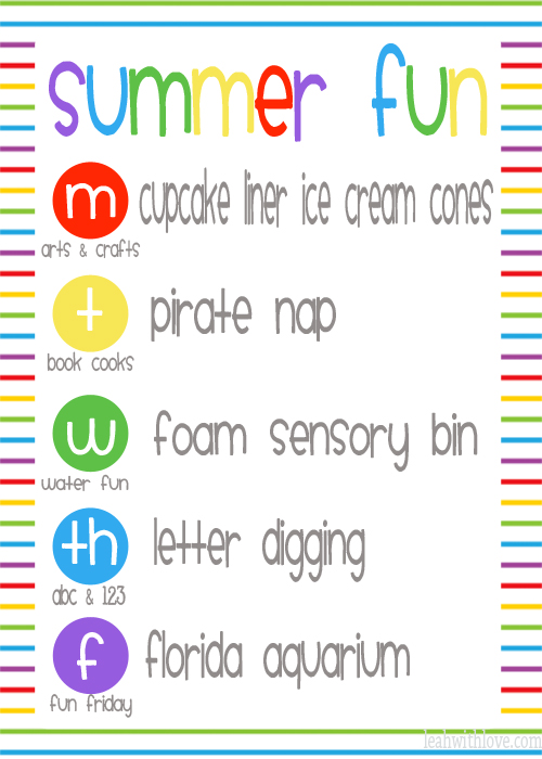 summer fun printable WEEK 5