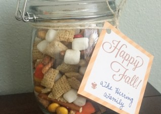 Happy Fall Printable Tag & Snack Mix