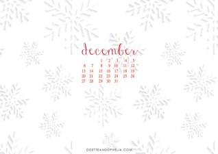 December Wallpapers + Calendars