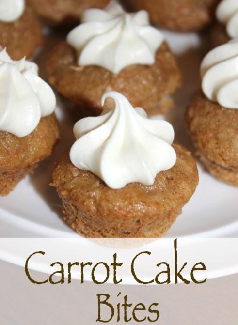 carrot cake bites