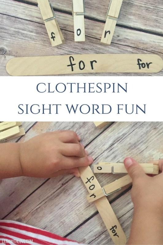 clothespinsight word fun