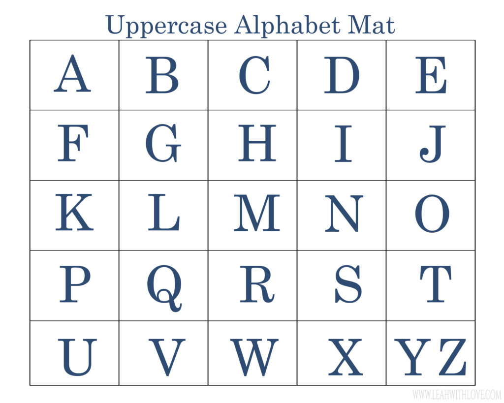 Upper Case Letters Printable That Are Peaceful