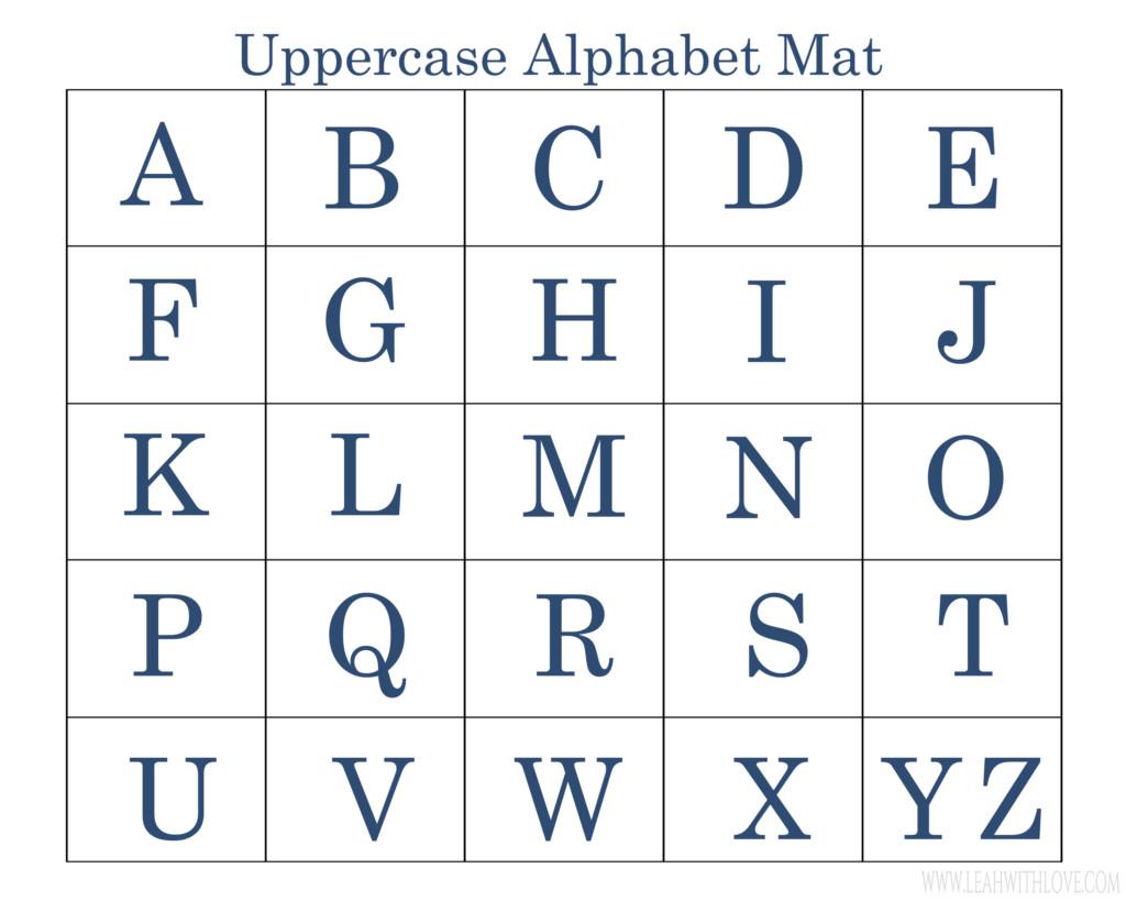 Printable Preschool Alphabet Mats Activity