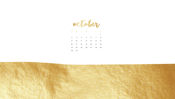 october2016desktopcalendar-golddippedwhite