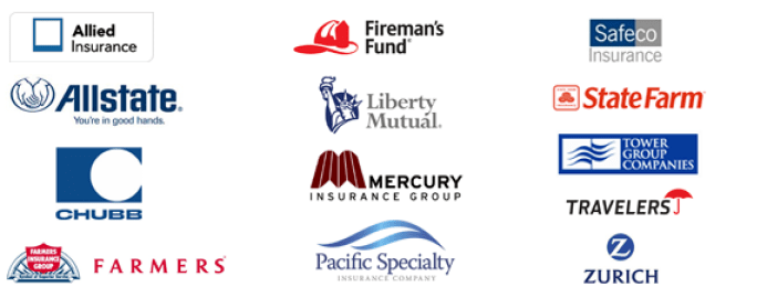 INSURANCE COMPANIES WE'VE WORKED WITH