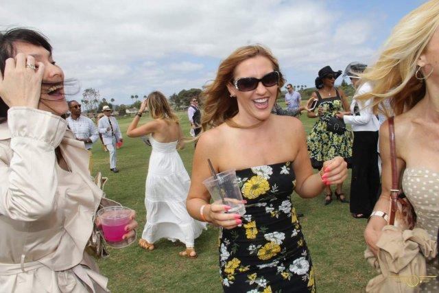 Me enjoying life and motherhood at a polo match.