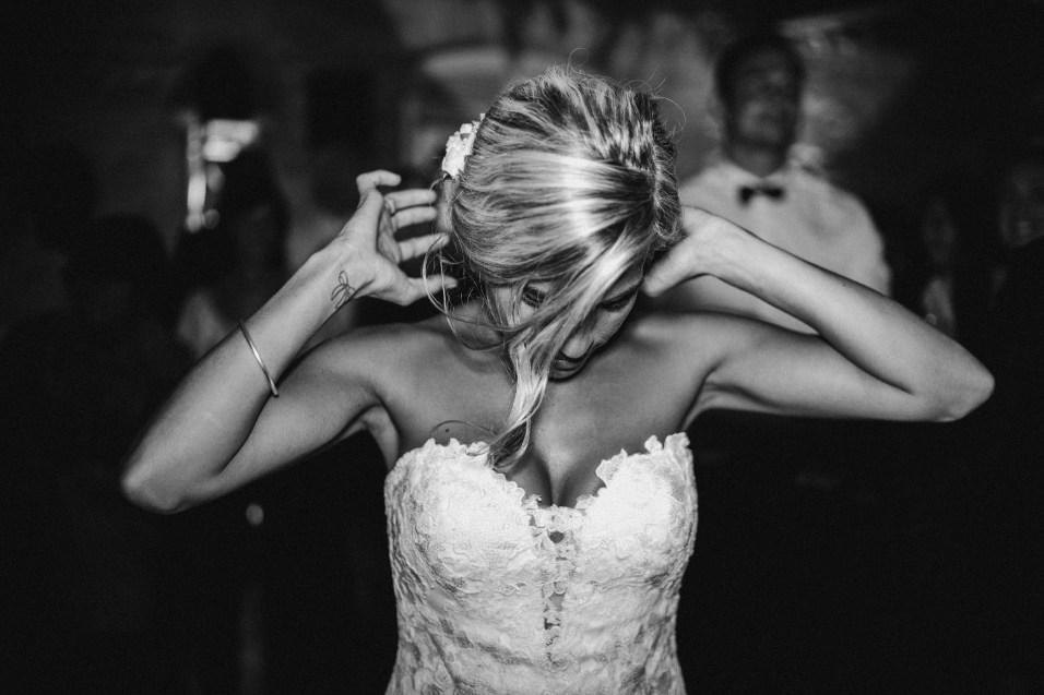 Photo mariée en noir et blanc