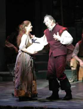 Leandra Ramm picture, wearing a light color rag in a play Take One