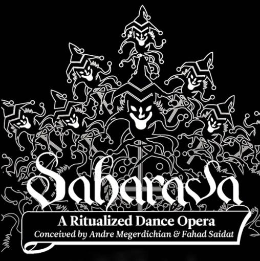 Saharava - A Ritualized Dance Opera Logo (Black & White)