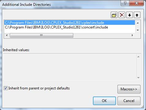 How to: Configure MS Visual Studio to use IBM CPLEX Concert - Prof
