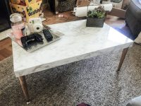 DIY Marble Top Coffee Table | Change With Us
