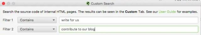 screamingfrog-custom-search filters
