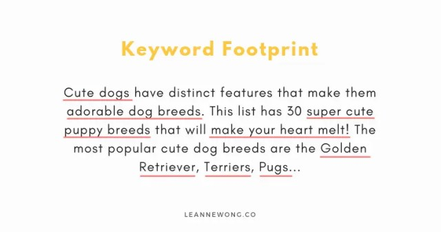 keyword footprint seo for beginners-LeanneWongCo