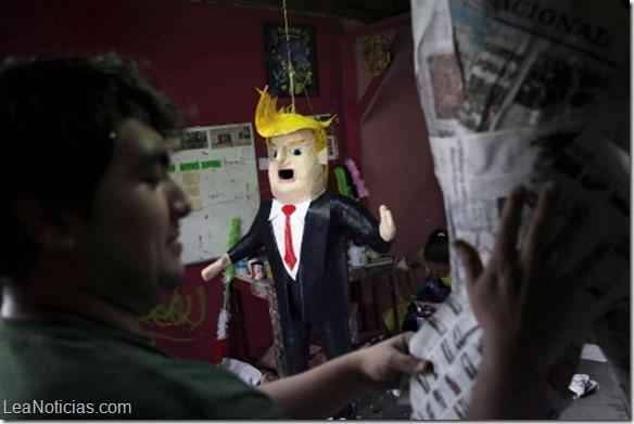 En México diseñaron piñata con el rostro de Donald Trump