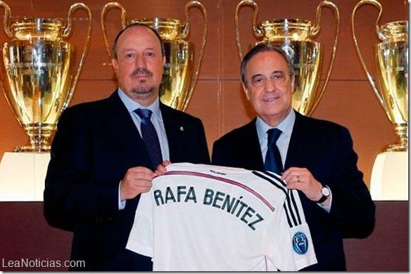 Rafa Benítez fue presentado como nuevo DT del Real Madrid