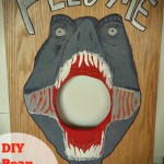 Dinosaur Bean Bag Toss Game:  Learn How to Make One for Cheap!!