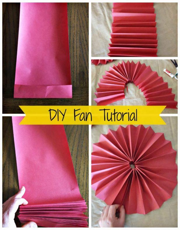 paper fan decoration diy
